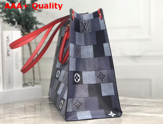 Louis Vuitton Onthego Tote Bag in Maxi Damier Graphite Canvas Replica