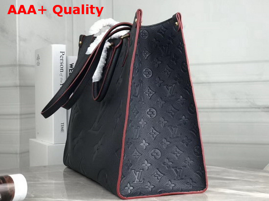 Louis Vuitton Onthego Tote Bag in Navy Blue Taurillon Monogram Leather Replica