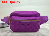 Louis Vuitton Outdoor Bumbag Purple Denim M44624 Replica