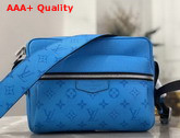 Louis Vuitton Outdoor Messenger Lagoon Blue Taiga Leather with Monogram Eclipse Canvas M30429 Replica