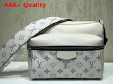 Louis Vuitton Outdoor Messenger PM Beige Taiga Cowhide Leather and Monogram Canvas Replica