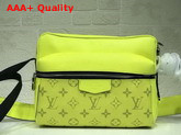 Louis Vuitton Outdoor Messenger PM Yellow Taiga Cowhide Leather and Monogram Canvas Replica
