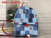 Louis Vuitton Palm Springs Mini Backpack Monogram Denim Canvas with a Pattern of Patchwork Squares Motifs M45043 Replica