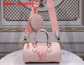 Louis Vuitton Papillon BB Carryall Bag Bouton de Rose Pastel Monogram Empreinte Leather with a Gradient Monogram Print M45707 Replica