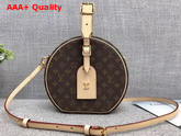 Louis Vuitton Petite Boite Chapeau Monogram Canvas with Natural Cowhide Trim M43514 Replica