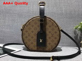 Louis Vuitton Petite Boite Chapeau Monogram Reverse Coated Canvas and Cowhide Trim Replica