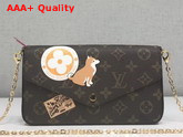 Louis Vuitton Pochette Felicie Monogram Canvas with Printed Patches Replica