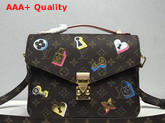 Louis Vuitton Pochette Metis Decorated with Fused Metallic Foil Locks Keys and Blossoms M44366 Monogram Canvas Replica