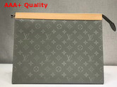 Louis Vuitton Pochette Voyage GM Monogram Titanium Coated Canvas Replica