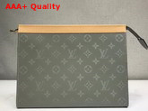 Louis Vuitton Pochette Voyage MM Monogram Titanium Coated Canvas Replica