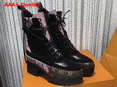 Louis Vuitton Pokerface Platform Desert Boot Black Suede Calf Leather and Pink Python Replica