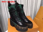 Louis Vuitton Pokerface Platform Desert Boot Suede Calf Leather and Green Python 1A2VXR Replica