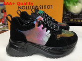 Louis Vuitton Run Away Pulse Sneaker Mix Material with Black Suede Leather Replica