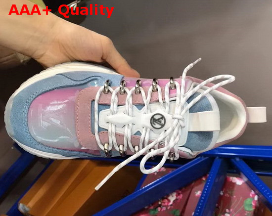 Louis Vuitton Run Away Pulse Sneaker Mix Material with Blue Suede Leather Replica