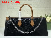 Louis Vuitton Sac Tricot Black Monogram Vernis Patent Leather M44371 Replica M44371