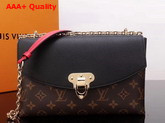 Louis Vuitton Saint Placide Monogram Coated Canvas and Black Cowhide Leather M43714 Replica