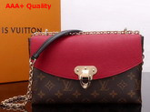 Louis Vuitton Saint Placide Monogram Coated Canvas and Cowhide Leather Cherry M43713 Replica