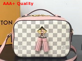 Louis Vuitton Saintonge Handbag Eau de Rose Damier Aur Coated Canvas N40155 Replica