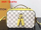 Louis Vuitton Saintonge Handbag Pineapple Damier Aur Coated Canvas N40154 Replica