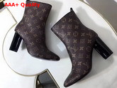 Louis Vuitton Silhouette Ankle Boot Patent Monogram 1A2XGF Replica