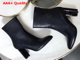 Louis Vuitton Silhouette Ankle Boot in Black Plain Calf Leather Replica