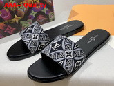 Louis Vuitton Since 1854 Lock It Flat Mule Gris 1A8D6A Replica