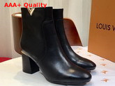 Louis Vuitton Skyline Ankle Boot in Black Calf Leather 1A4DM8 Replica