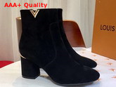 Louis Vuitton Skyline Ankle Boot in Black Suede Leather Replica
