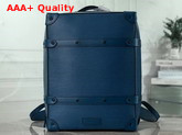 Louis Vuitton Soft Trunk Backpack PM Blue Epi Leather Replica