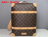 Louis Vuitton Soft Trunk Backpack in Monogram Canvas and Natural Cowhide Leather Replica