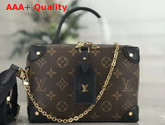 Louis Vuitton Soft Trunk Single Handle Bag in Monogram Canvas and Black Letaher Replica