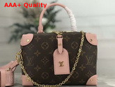 Louis Vuitton Soft Trunk Single Handle Bag in Monogram Canvas and Pink Letaher Replica