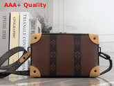 Louis Vuitton Soft Trunk in Brown Taiga Leather and Monogram Canvas Replica