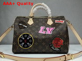 Louis Vuitton Speedy 30 Bandouliere Monogram Coated Canvas with Applied and Printed Patches M43989 Replica