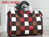 Louis Vuitton Speedy 30 in Monogram Canvas Woven with Colored Leather Replica