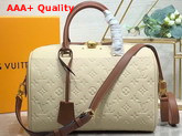 Louis Vuitton Speedy Bandouliere 30 Cream Monogram Empreinte Leather Replica