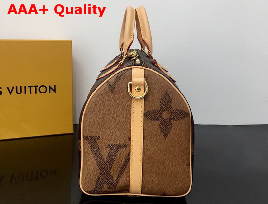 Louis Vuitton Speedy Bandouliere 30 Monogram Giant and Monogram Reverse Coated Canvas M44602 Replica