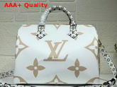 Louis Vuitton Speedy Bandouliere 30 White Monogram Canvas Replica