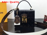 Louis Vuitton Spring Street Bag in Black Monogram Vernis Patent Leather M90375 Replica M90375