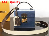 Louis Vuitton Spring Street in Bleu Jean Monogram Vernis Patent Leather M90373 Replica M90373