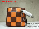 Louis Vuitton Square Bag in Brown and Orange Calf Leather Replica