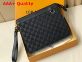 Louis Vuitton Standing Pouch Onyx Damier Infini Leather N60450 Replica
