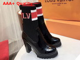 Louis Vuitton Star Trail Ankle Boot Glazed Calf Leather and Stretch Textile 1A4FMP Replica