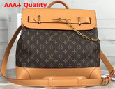 Louis Vuitton Steamer PM Monogram Canvas and Natural Cowhide Leather Replica