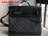 Louis Vuitton Steamer PM Monogram Eclipse Canvas with Matte Black Hardware M44731 Replica