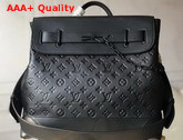 Louis Vuitton Steamer PM in Black Taurillon Leather Embossed with the Monogram Motif M55701 Replica