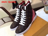 Louis Vuitton Stellar Sneaker Boot Patent Monogram Canvas Golden Metallic Side Zip 1A2A2S Replica