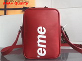 Louis Vuitton Supreme Messenger Red Epi Leather Replica
