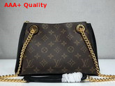 Louis Vuitton Surene BB Monogram Coated Canvas and Black Grained Calf Leather M43775 Replica