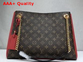 Louis Vuitton Surene MM Monogram Coated Canvas with Cherry Grained Calf Leather M43773 Replica